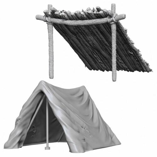 WizKids WZK73858 Deep Cuts-Tent & Lean-To W10 Miniature Perspective: front