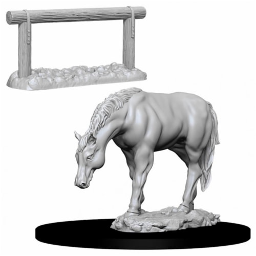 WizKids WZK73862 Deep Cuts-Horse & Hitch W10 Miniature Perspective: front