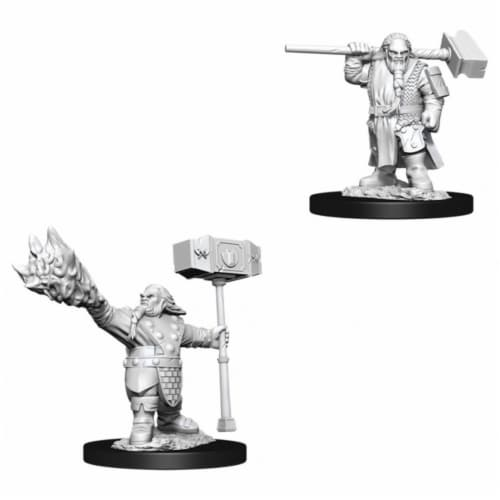 Dungeons and Dragons Male Dwarf Cleric Nolzur's Miniatures Perspective: front