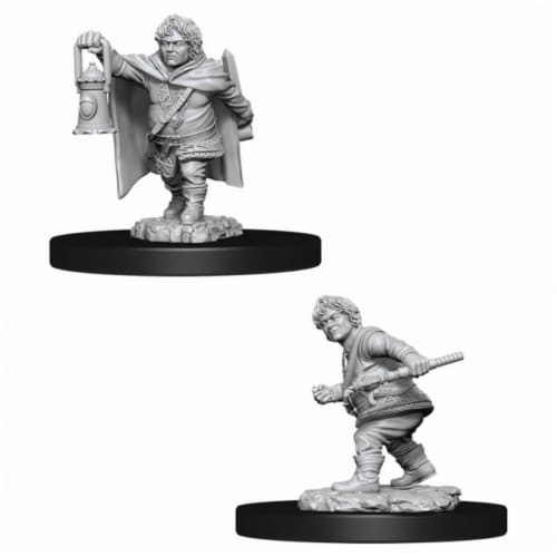 WizKids WZK90006 Dungeons & Dragons Nolzurs Marvelous Unpainted Male Halfling Rogue W11 Minia Perspective: front