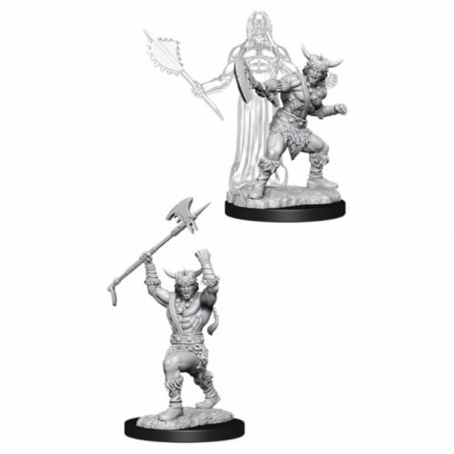 WizKids WZK90007 Dungeons & Dragons Nolzurs Marvelous Unpainted Male Human Barbarian W11 Mini Perspective: front