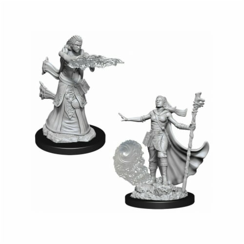 WizKids WZK90012 Dungeons & Dragons Nolzurs Marvelous Unpainted Female Human Wizard W11 Minia Perspective: front