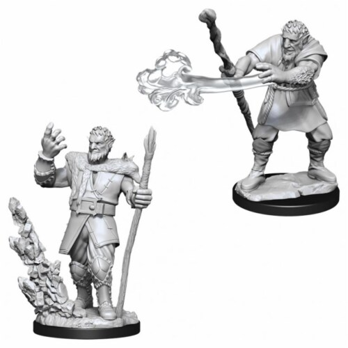 Dungeons and Dragons Male Firbolg Druid Nolzur's Miniatures Perspective: front