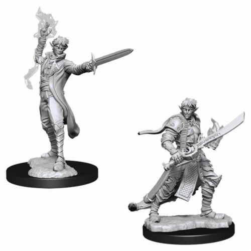 WizKids WZK90043 Pathfinder Deep Cuts Male Elf Magus Magic User W11 Miniature Perspective: front