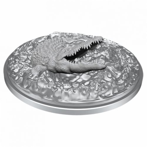 WizKids WZK90051 Dungeons & Dragons Nolzurs Marvelous Unpainted Crocodile W11 Miniature Perspective: front