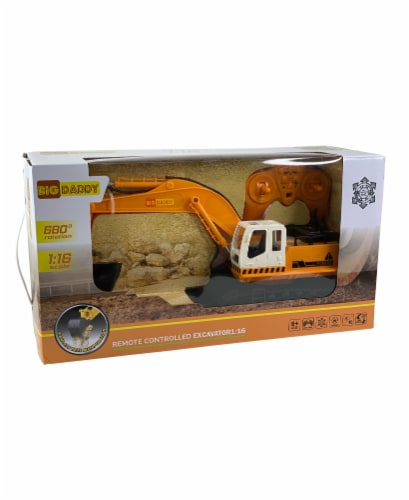 Big Daddy Die Cast 11 Excavator with Remote Control Perspective: front