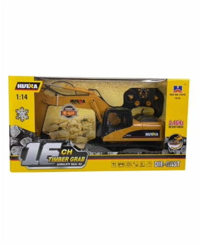 Big Daddy Die Cast 16 Log Grabbing Excavator with Remote Control Perspective: front
