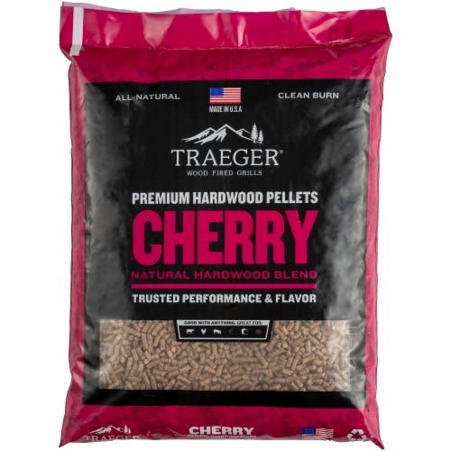 Traeger Cherry Premium Pure Hardwood Pellets Perspective: front