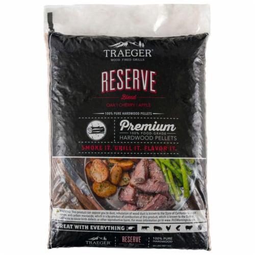 Traeger Reserve Apple/Cherry/Oak Blend Wood Pellet Fuel 20 lb. - Case Of: 1; Perspective: front