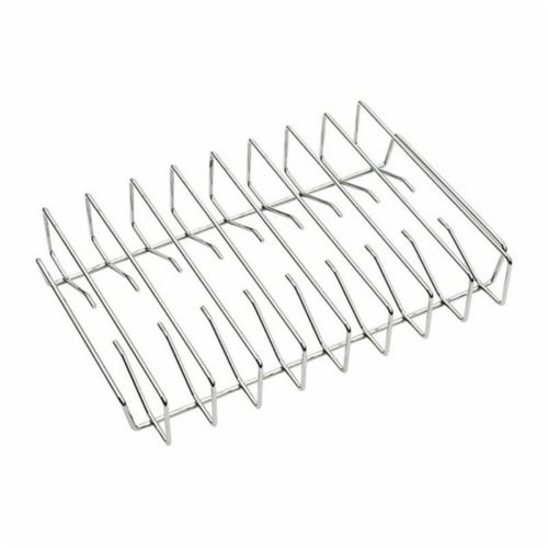 Traeger BAC354 Chrome Rib Rack Perspective: front