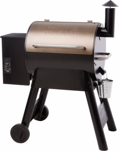 Traeger Wood Fire Grils Pro Series 22 Grill - Bronze Perspective: front