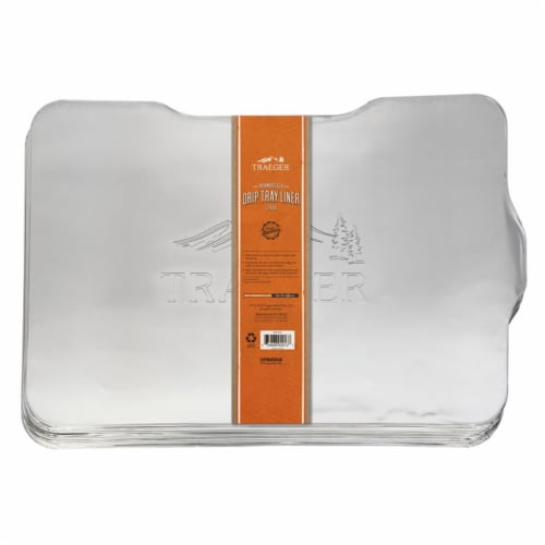 Traeger Aluminum Drip Tray Liner For Ironwood 650 21 in. L x 15.5 in. W - Case Of: 1; Each Perspective: front