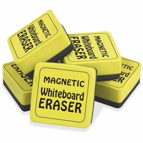 Magnetic Whiteboard Eraser, 2  x 2 , Yellow, Pack of 12 Perspective: front