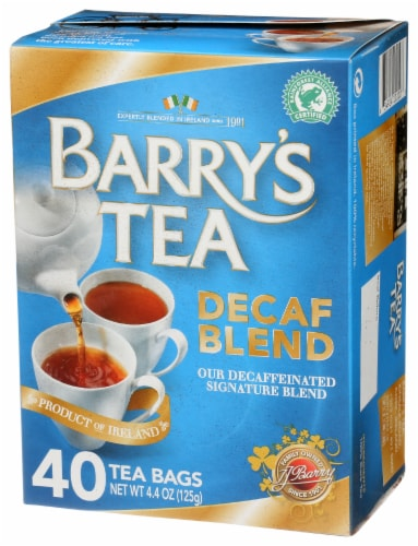 Barrys Tea Decaffeinated Tea Bags Perspective: front