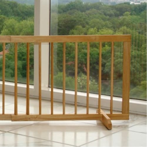 Step Over Pet Gate Extension - Natural Perspective: front