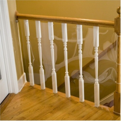 Banister Shield Protector - 5 Feet Perspective: front