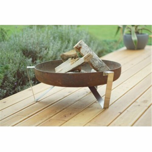 Curonian 630Agila Solid Steel Wood Burning Fire - Pit Agila Perspective: front