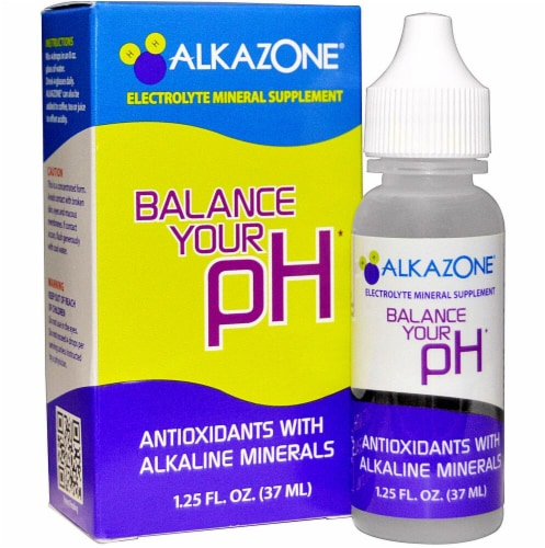 AlkaZone  Alkaline Drops with Antioxidant Perspective: front