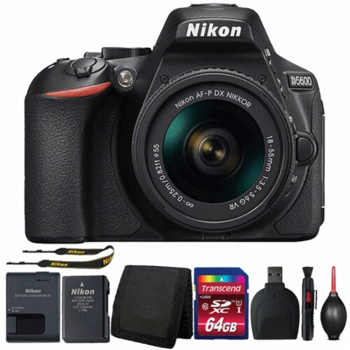 Nikon D5600 Digital Slr Camera With 18-55mm Lens And Ultimate Accessories Perspective: front