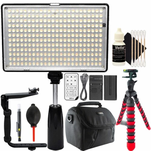 Professional 288 Led 1400 Lumens Video Light With Accessories Perspective: front