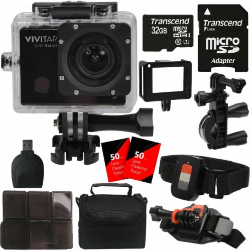Vivitar Sports And Action Camera 16mp 4k Video 1440p Wifi Waterproof Camcorder Perspective: front