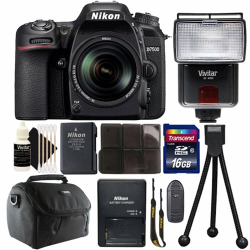 Nikon D7500 20.9mp Digital Camera Af-s Dx 18-140mm F/3.5-5.6g Ed Vr Lens + More Perspective: front