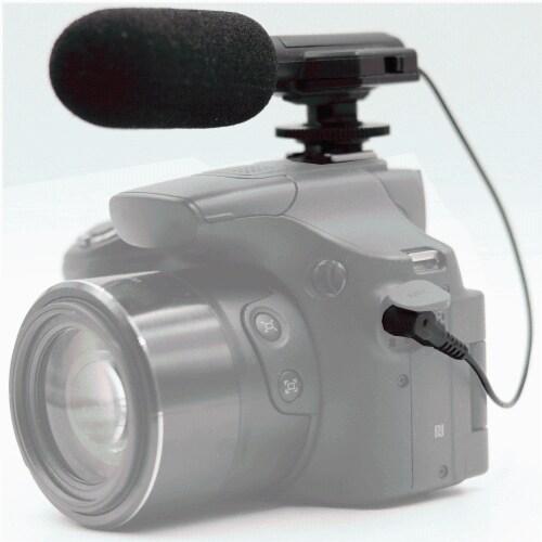 Vivitar Universal Mini Microphone Mic-403 For Canon Vixia Hf G40 Camcorder Perspective: front