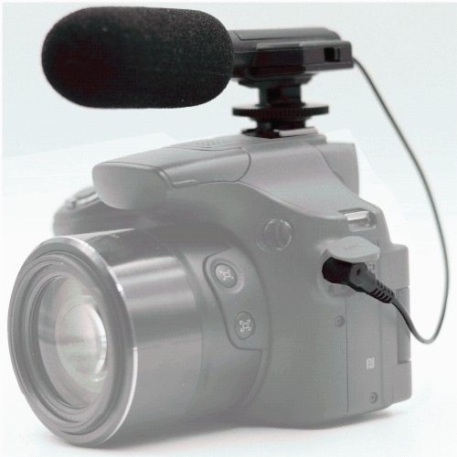 Vivitar Universal Mini Microphone Mic-403 For Canon Xa35 Camcorder Perspective: front
