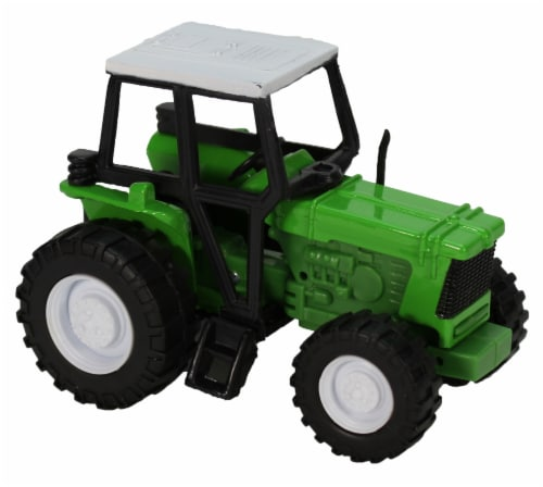 Green Die-Cast Farm Tractor, 1:32 Scale Perspective: front