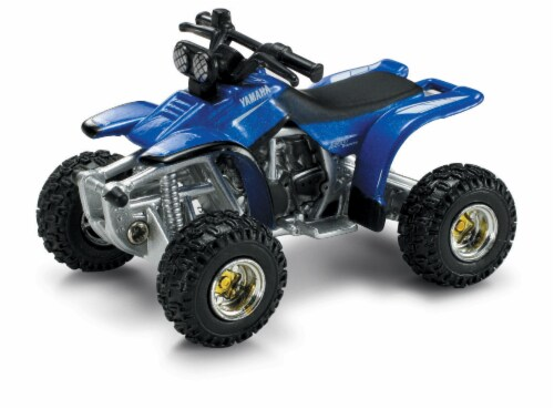 Die-Cast Blue Yamaha Warrior Four Wheeler, 1:32 Scale Perspective: front