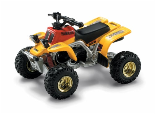 Die-Cast Yellow Yamaha Banshee Four Wheeler, 1:32 Scale Perspective: front