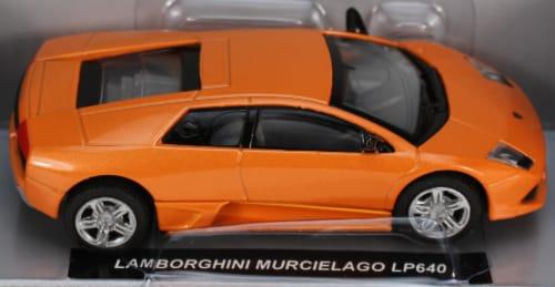 Die-Cast Orange Lamborghini Mucielago LP640 1:43 Scale Perspective: front