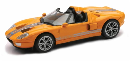 Die-Cast Orange Ford GTX1 1:43 Scale Perspective: front