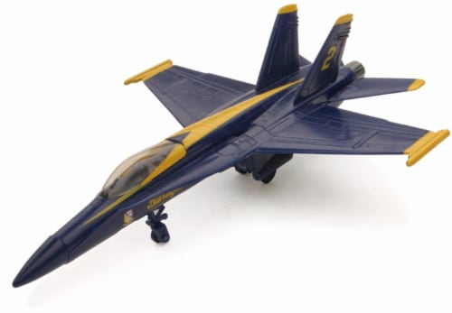 Snap Together Model F/A-18 Blue Angels Jet Fighter Perspective: front