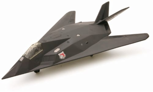 Snap Together Model F-117 Nighthawk Jet Fighter Perspective: front