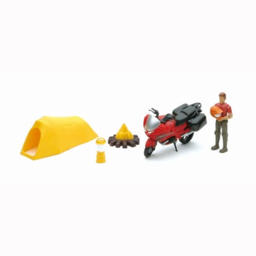 Xtreme Camping and Motorcycle Adventure Playset Perspective: front
