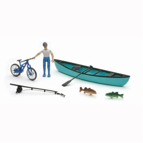 Xtreme Fishing, Biking, and Canoeing Adventure Playset Perspective: front