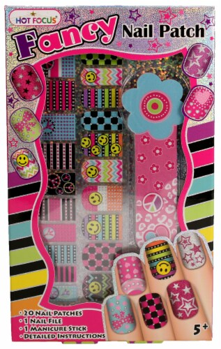 Fancy Nail Patches, Nail File, and Manicure Stick - Peace Perspective: front