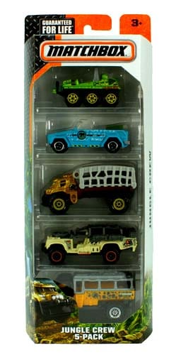 Matchbox - Jungle Crew 5-Pack Perspective: front