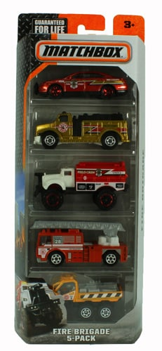 Matchbox - Fire Brigade 5-Pack Perspective: front