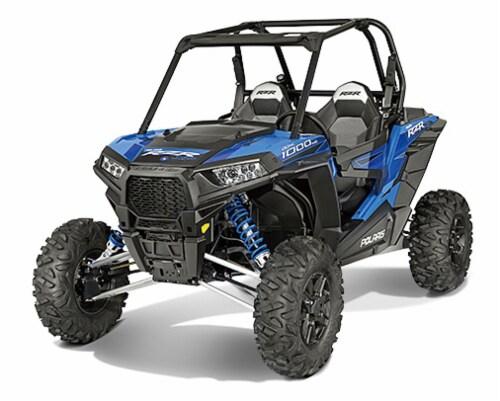 Polaris RZR XP 1000 Die Cast Vehicle, Blue (1:18 Scale) Perspective: front