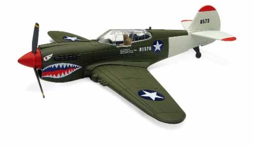 Sky Pilot Classic Plane Model Kit (1:48 Scale), P-40 Warhawk Perspective: front