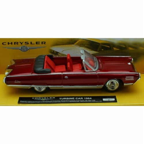 1:43 Scale Die-Cast Red 1964 Chrysler Turbine Car Perspective: front