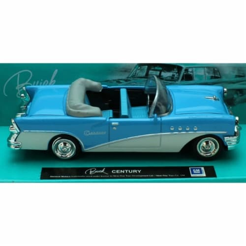 1:43 Scale Die-Cast Blue/White Buick Century Convertible Perspective: front