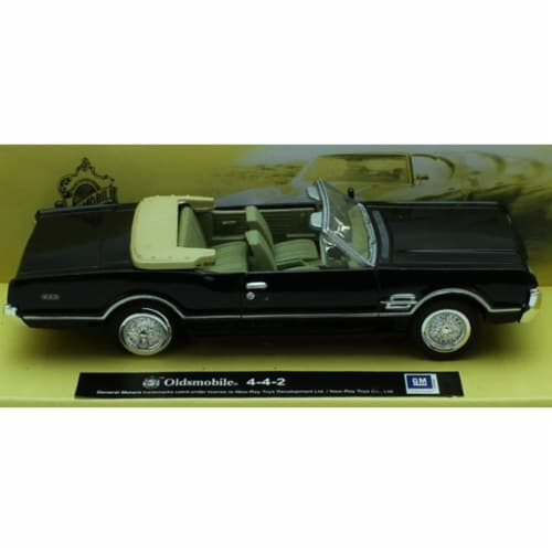 1:43 Scale Die-Cast Black Oldsmobile 4-4-2 Perspective: front