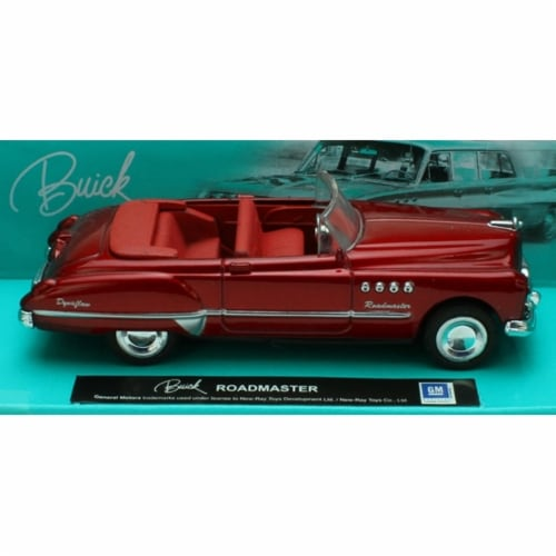 1:43 Scale Die-Cast Red Buick Roadmaster Convertible Perspective: front