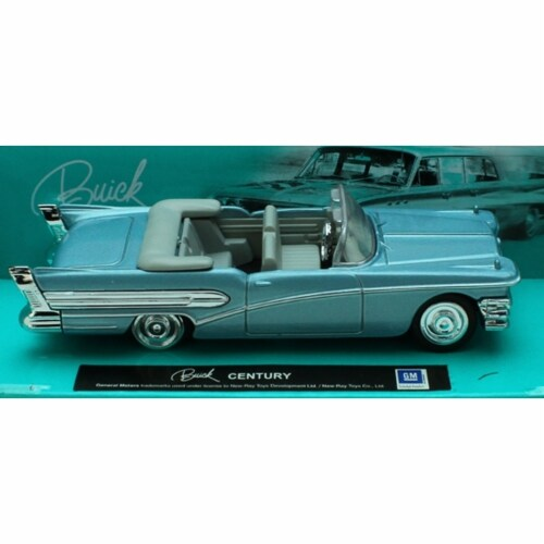 1:43 Scale Die-Cast Blue Buick Century Convertible Perspective: front
