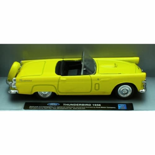 1:43 Scale Die-Cast Yellow 1956 Ford Thunderbird Convertible Perspective: front