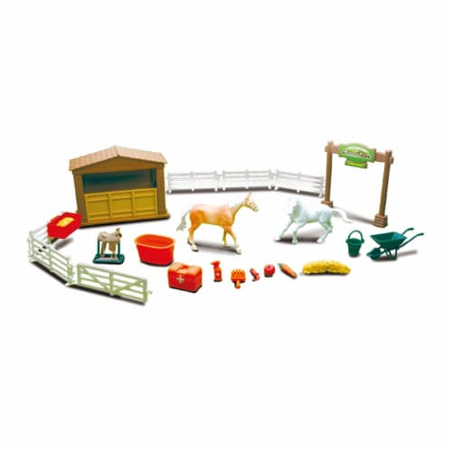 Country Life Horse Farming Playset Perspective: front