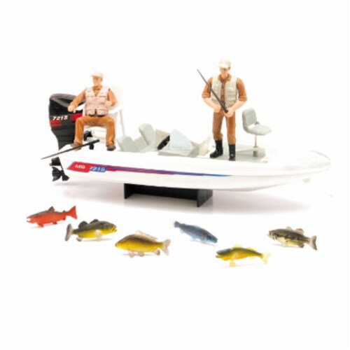 Wildlife Hunter Fishing Playset Perspective: front